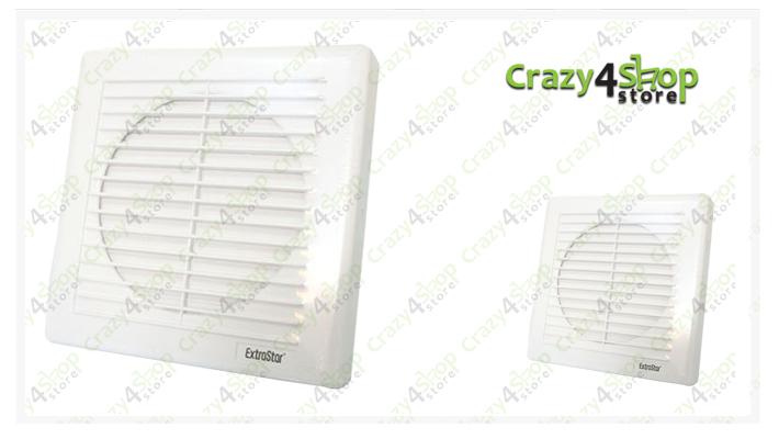 Aspiratore aria da muro ventola elimina odori per bagno - Aspiratore bagno umidita ...
