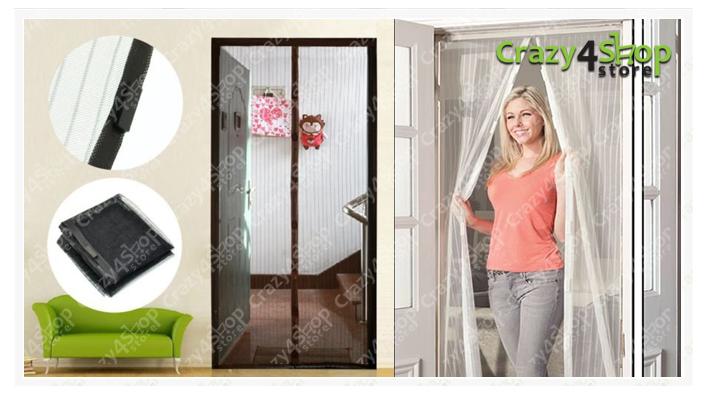 Zanzariera magnetica porta finestra chiusura magneti calamita anti zanzare tenda ebay - Zanzariera magnetica finestra ...